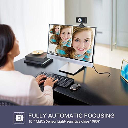 ZYD Webcam S4 HD 1080P Webcam PC Web USB-Kamera-Nocken-Videokonferenz Anruf Mit Mikrofon Für Laptop-Computer Büro Video-Chat Web Cam Schwarz