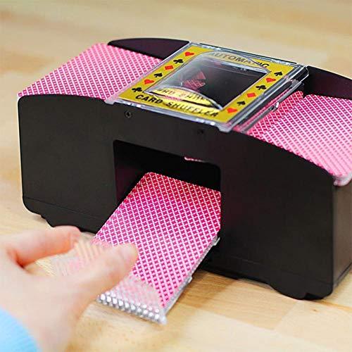 SAMTITY Kartenmischmaschine, Kartenspiele elektronische Automatische Kartenmischer Card Shuffler von Karten beim Pokern, Rommé und Skat auf Knopfdruck Karten sortieren