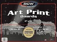 100 Ct. 11x17 Art Print Backing Boards and Bags 【Creative Arts】 [並行輸入品]