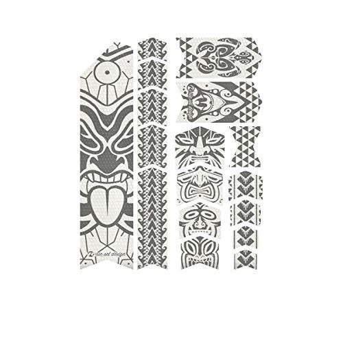 Riesel Design-Tape 3000 - Adhesivo protector para cuadro de bicicleta, Maori Grey.