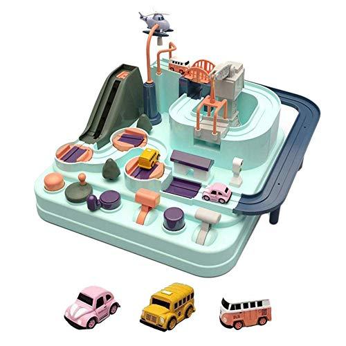 ALWWL Race Car Track Set para Niños, Juego de Aventura de Coche, Car Track Toy, Juegos Educativos, Race Car Track Set, Juguetes De Car, para niños Mayores de 3 años