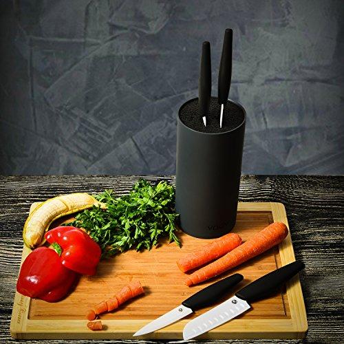 VOOV Professional 5 Piece Pure Ceramic Knife Set