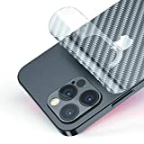 For iPhone 12 Pro Back Screen Protector 3D Carbon Fiber Ultra Thin Protective Film-2 packs-Transparent