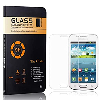 The Grafu Screen Protector for Galaxy Core Plus, Ultra Thin Tempered Glass Screen Protector, 9H Hardness Screen Protector Compatible with Galaxy Core Plus, 3 Pack from The Grafu