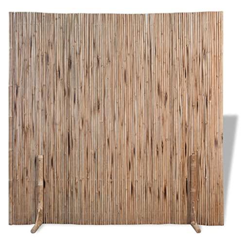 vidaXL Bambuszaun Zaunelement Sichtschutzmatte Raumteiler Bambusmatte Sichtschutzzaun Bambus Zaun Naturzaun Windschutz Sichtschutz 180×170 cm