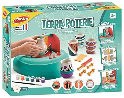 HOFF Coffret Tour de potier avec Chargeur, Accessoires et Peinture - Atelier de poterie - kit creatif Moulage Enfant