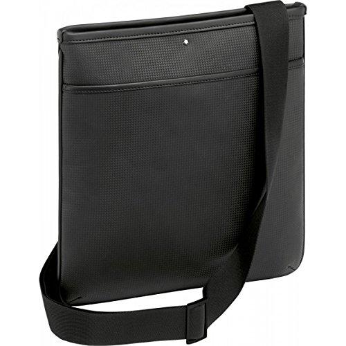 Montblanc - Bolso al hombro para hombre negro nero con effetto fibra di carbonio
