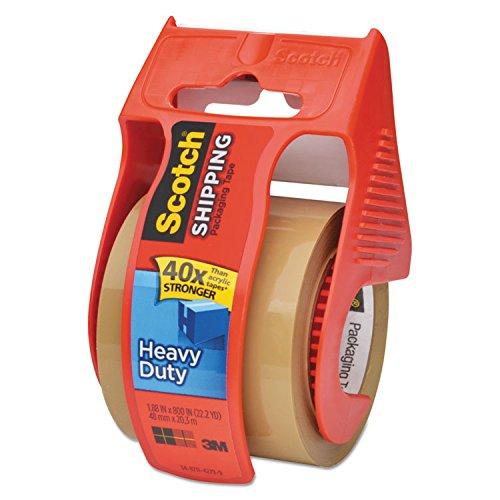 Scotch 143 3850 Heavy-Duty Packaging Tape in Sure Start Disp, 1.88-Inch x 800-Inch, Tan
