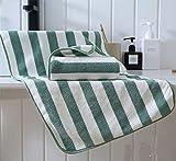 Fuduoduo Altamente Absorbente Suave Towel,Toalla de Lana de Coral Absorbente Suave Espesada 35 * 75-Verde 2 Piezas,Alta Densidad AlgodóN Toallas