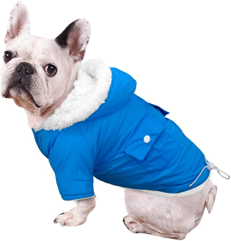 Beirui Windproof Waterproof Cold Weather Dog Coat  Doggie Puppy Vest Warm Pet Ski Jacket  Dog Apparel for XLarge 13  Back Length,bluee