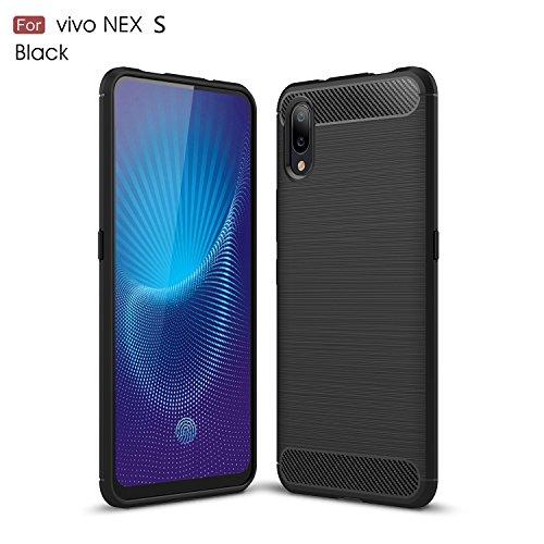 vivo NEX S Hülle,TenYll Superdünn Weich Silikon Schutzhülle [Advanced Shock Absorption Technology] Silikon Handyhülle für vivo NEX S -Schwarz