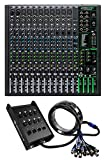 Mackie ProFX16v3 16-Channel 4-Bus Effects Mixer w/USB ProFX16 v3 +Snake Cable