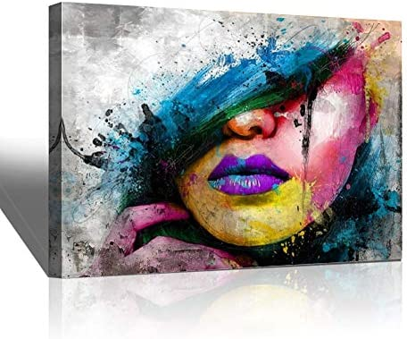 Abstract Canvas Art Wall Decor Sexy Girl Lips Pop Art Canvas Prints Modern Canvas Art Wall Paintings product image
