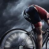 TTBAODAN Speichenreflektoren Set [60 Stück], Katzenaugen Hergestellt mit Reflektormaterial für Fahrradspeichen, Einfache Montage 360° Sichtbarkeit Speichen Reflektoren Passend für alle Fahrrad Spokes