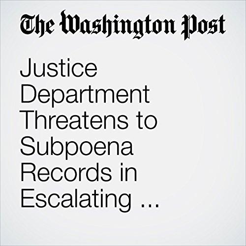 Justice Department Threatens to Subpoena Records in Escalating Battle With 'Sanctuary' Jurisdictions copertina