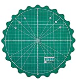 YICBOR Self Healing Rotary Cutting Mat for Office School Supplies Quilting, Paper Craft, Clay Craft, Art Craft (Green)