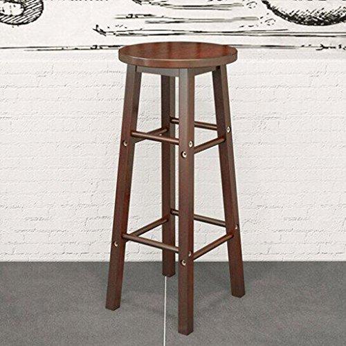 Tabouret en bois Chaise de bar en bois massif, Tabouret haut/Tabouret en bois massif Chaise de bar Vintage Chaises de bar européennes élégantes / 70-80cm de renfort de chaise en bois (Couleur : C)