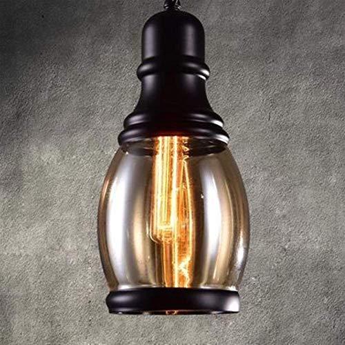 Casa Raro Vintage Lámpara Colgante Vintage Cognac Glass Cluster Colgante Colgante Lámpara Colgante Araña Antigua Acabado Negro Edison E27 Luces de techo para Cocina Isla Comedor Cafe Bar