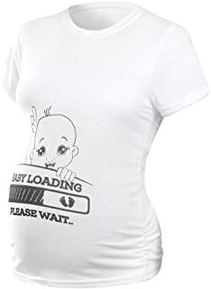 7c63518ac219f Allywit Cute Baby T-Shirts Maternity Funny Graphic Tee Cute Tops for Pregnancy  Announcement T