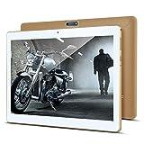 Tablet 10 Zoll, KUNWFNIX Tab T10 Android 8.1 Tablet PC mit 2 GB RAM 32 GB ROM, 128GB Erweiterbarer Speicher, Quad Core CPU, Dual Kamera/SIM 3G Tablets Unterstützung WiFi/GPS/Bluetooth (Gold)