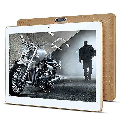 KUNWFNIX Tab T10 - Tablet de 10 pulgadas, Android 8.1, con 2 GB de RAM, 32 GB de ROM, 128 GB de memoria ampliable, CPU Quad Core, cámara dual, SIM 3G, tabletas, soporte WiFi, GPS/Bluetooth (dorado)
