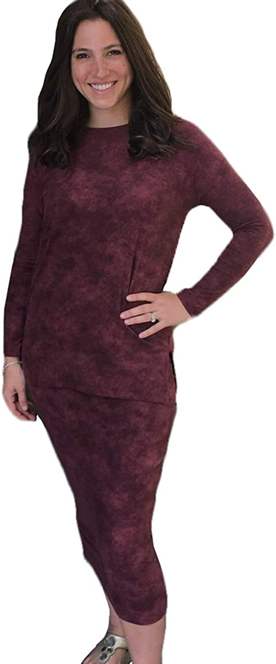Daniella Faye Womens Polyester High material Long DF Sleeve Style Top Max 74% OFF High-Low