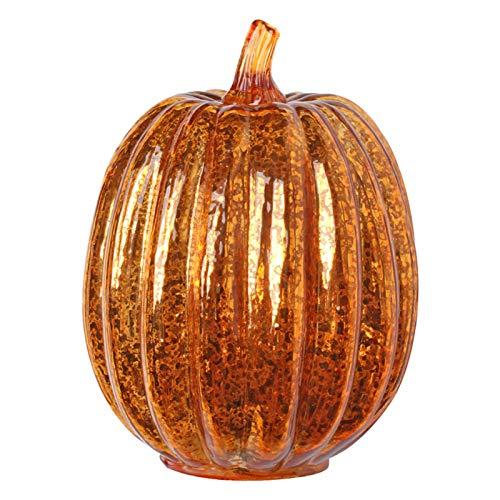 yummyfood Halloween Kürbis Licht Leuchtendes Glas Kürbis Mit Timer Halloween Nachtlicht Kürbis Windlicht Herbstliche Dekoration