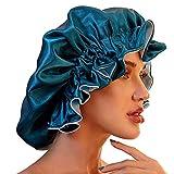 Sombrero de satén para dormir para cabello natural, gorro de satén para dormir...