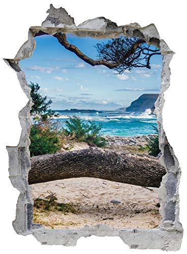 Strand Meer Palme Urlaub Wandtattoo Wandsticker Wandaufkleber E0721 Größe 46 cm x 62 cm