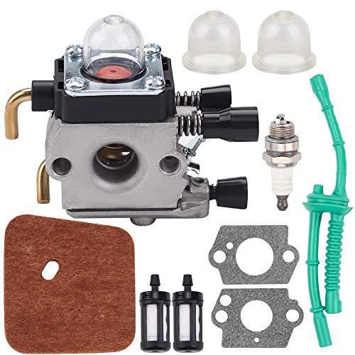 Ginode C1Q-S97 FS38 Carburetor for FS38 FS45 FS55 FS55R FS46 FS75 FS80 KM55 HL45 FS45L FS45C FS46C FS55C FS55R FS55RC FS85 FS80R FS85R String Trimmer Weed Eater Tune Up Kit