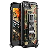 YVPro iPhone SE 2020 Case iPhone 8 Case iPhone 7 Case iPhone 6S Case iPhone 6 Case Military Kickstand Man Boy Camouflage Camo Shockproof Protective Cover