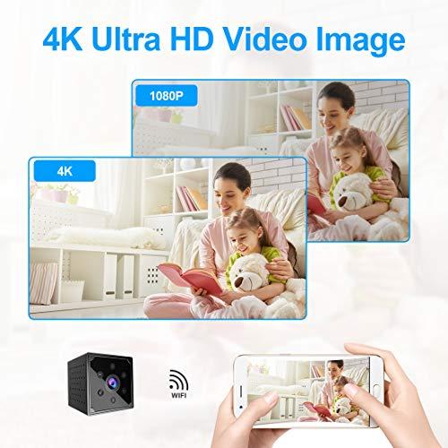 Mini Spy Camera 4K Wireless Hidden Camera Portable