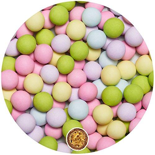 EinsSein 0,7kg Crispy Bruidsuiker Chocolade ballen Mix small kleurrijke mat bruiloft chocoladebollen choco choups omhuld chocolade confetti rokante koekjes candy bar candybar geboorte communie