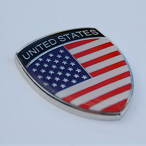 Amazing USA America Show Quality Metal Decorative Emblem Decal Ornament 1.5' tall