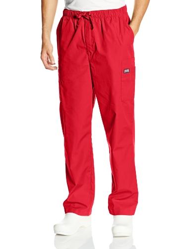Cherokee Men's Originals Cargo Scrubs Pant, Red, Large