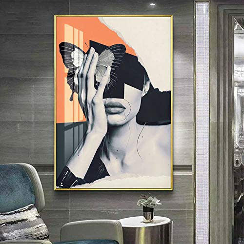 Hd Print Picture Abstract Woman Landscape Modern Canvas Painting Living Room Decoration d 70x100cm