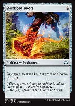 Magic: the Gathering - Swiftfoot Boots (271/342) - Commander 2015 by Magic: the Gathering