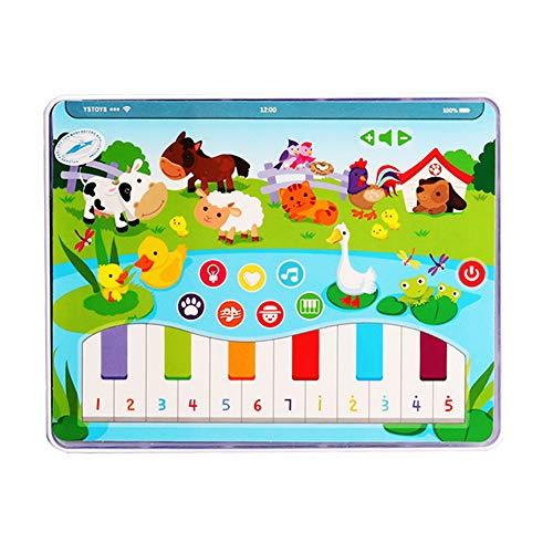 conqueror Bébé Jouets Musique Lights Toddler Piano Keyboard Pad Early Learning Learning Toy pour Tous Les bébés, Enfants, garçons et Filles Jouet Cadeau de Nouvel an Cadeau (Multicolore)
