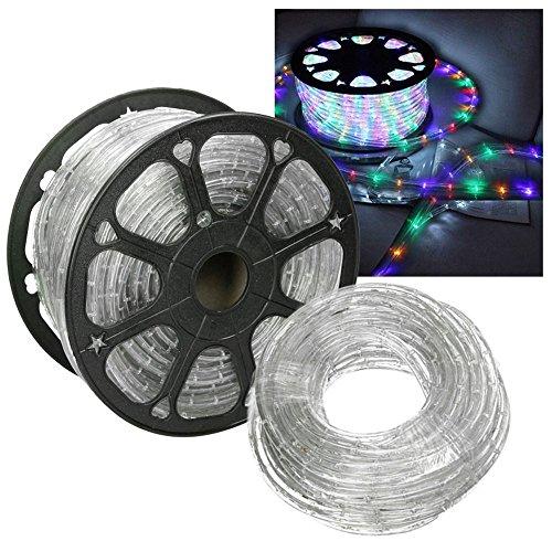 HG 10m LED Lichtschlauch Lichterkette Lichterschlauch Dekolicht Fensterbeleuchtung für Außen&Innen Weihnachten Dekoration Hochzeit mit Controller RGB