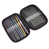OKwife Wool Crochet Kit Herramientas para Tejer suéter Aguja de aleación de Aluminio Crochet 22Pcs / Set