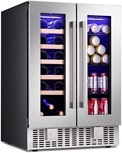 Antarctic Star 24 Inch Beverage Refrigerator Buit-in Wine Cooler Mini Fridge...
