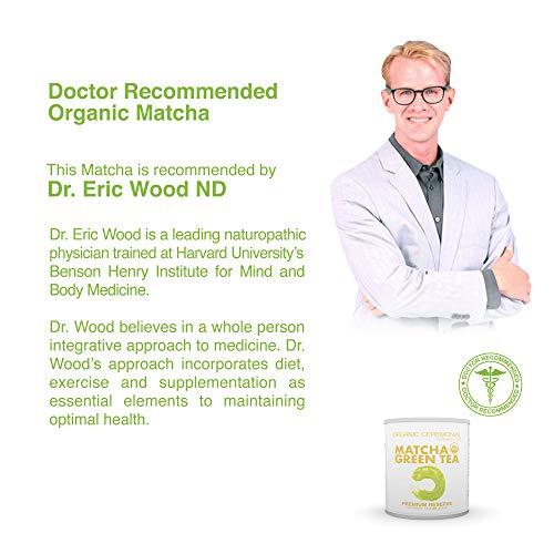 Matcha DNA Certified Organic Ceremonial Grade Matcha Green Tea 1 Ounce Tin