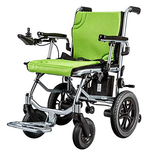 YDBET Elektrische Rollstühle Folding leichte, tragbare, Dual-Function Heavy Duty, Open/Fast-Falten Compact Electric Chair Antrieb mit Energie oder manuellen Rollstuhl 12-Meilen Reichweite