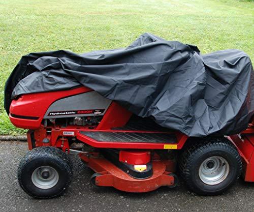 Speedwellstar Aufsitz-Rasenmäher-Abdeckung, wasserdicht, extra robust, 1,3 kg Gewicht, 600 Denier, mit PU-beschichteter Rückseite, 103 x 110 x 155 cm, elastischer Saum