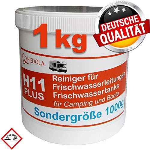 Hedola H11 Plus Sondergröße 1000g Frisch-Wasser Tankreiniger für Wohnmobil Wohnwagen Boot