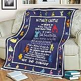 Disney Castle Fleece Blanket We Believe in for Disney Fan Gift (50x60 inch)