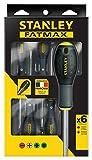 Stanley FatMax Destornilladores FatMax-Juego 6 Piezas Plana/Phillips FMHT0-62626