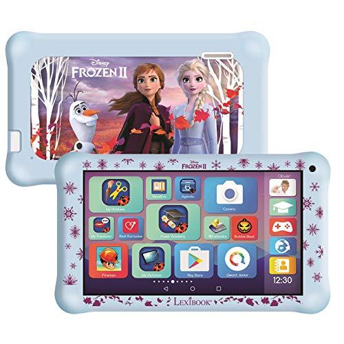 Lexibook MFC149ENY LexiTab Master 7 Zoll Kids Tablet mit Lern-Apps, Spielen & elterliche Kontrolle-Bundle mit Frozen 2 Schutzhülle & Kopfhörer