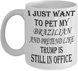 My Rabbit Brazilian Gifts 11oz Coffee Mug - I Just Want My Pet - Best Inspirational Gifts and Sarcasm Pet Lover ak4774