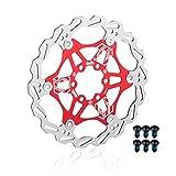 EASTERN POWER Bicicleta Freno Disco, Disco de Freno 180mm 6 Tornillos(Incluye), Flotante Disco Freno para Hope/SRAM/Shimano/Hayes/Magura/Avid Montaña/MTB Bici, Rojo